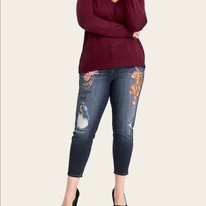 torrid Jeans - Torrid Girlfriend Jean Vintage Stretch Dark Wash